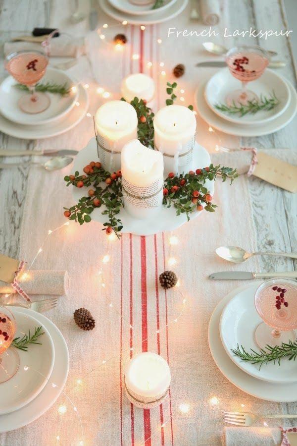 art de la table, décoration, fêtes, réveillon, nappe, chandelle, famille, réveillon