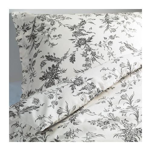 chambre à coucher, housse de couette, fleur, blanc, décoration, maison