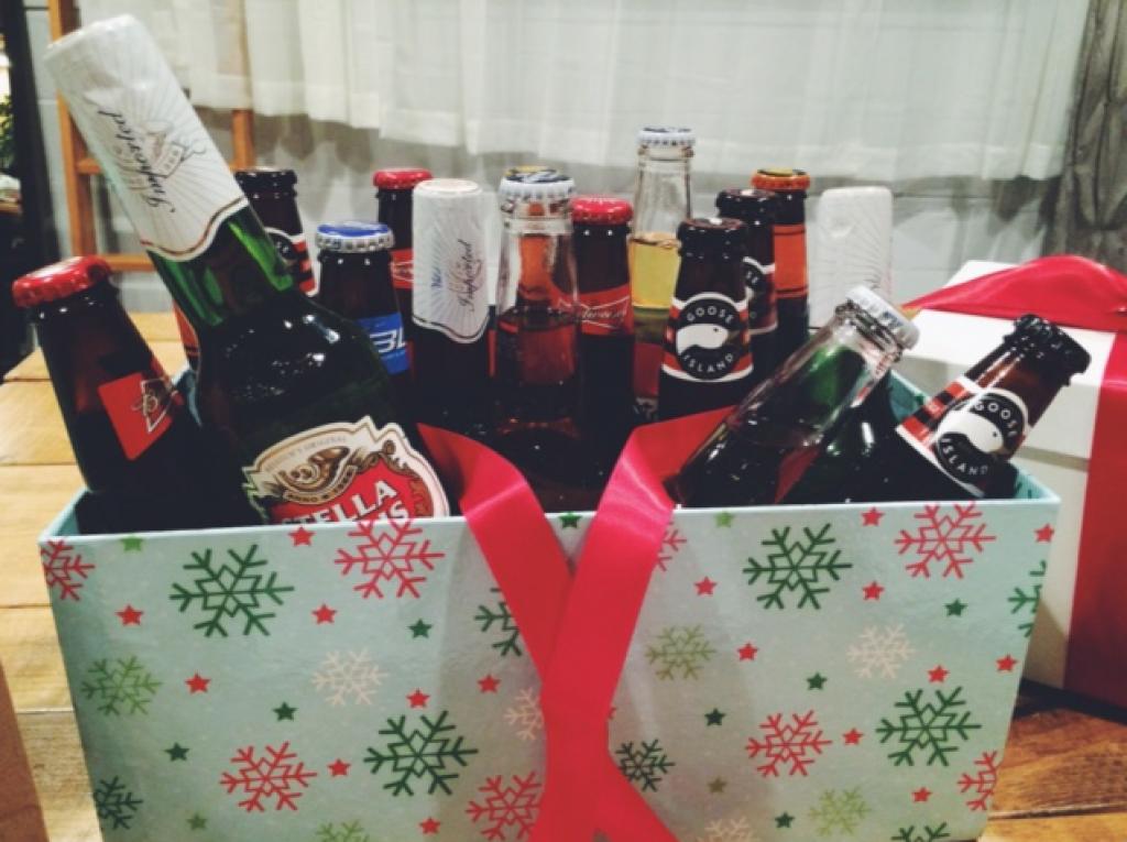 bières, Labatt, Stella, budweiser, goose, décoration, table, boissons
