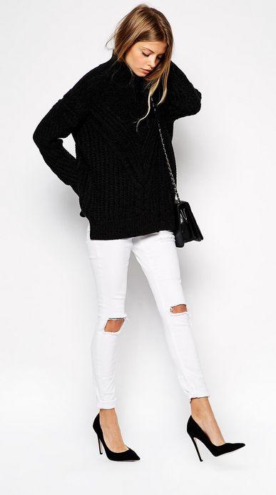 Jeans blancs 1