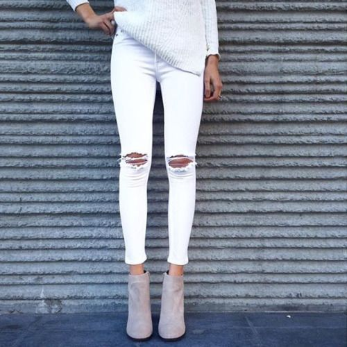 Jeans blancs 3