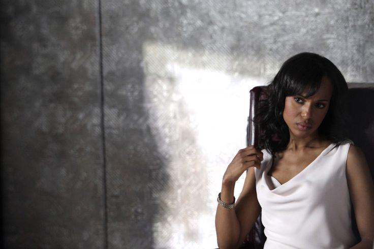 Kerry Washington, Scandal, Olivia Pope, Office wear, bureau, classique, blanc