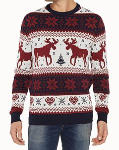 sweather, pull, fêtes, chevreuil, laine, fêtes, Noël