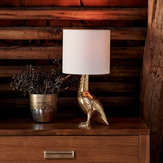Lampe, canard, déco, gold, tendance animal,