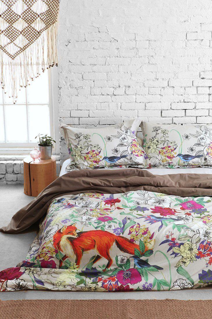Chambre à coucher, renard, déco, tendance animal