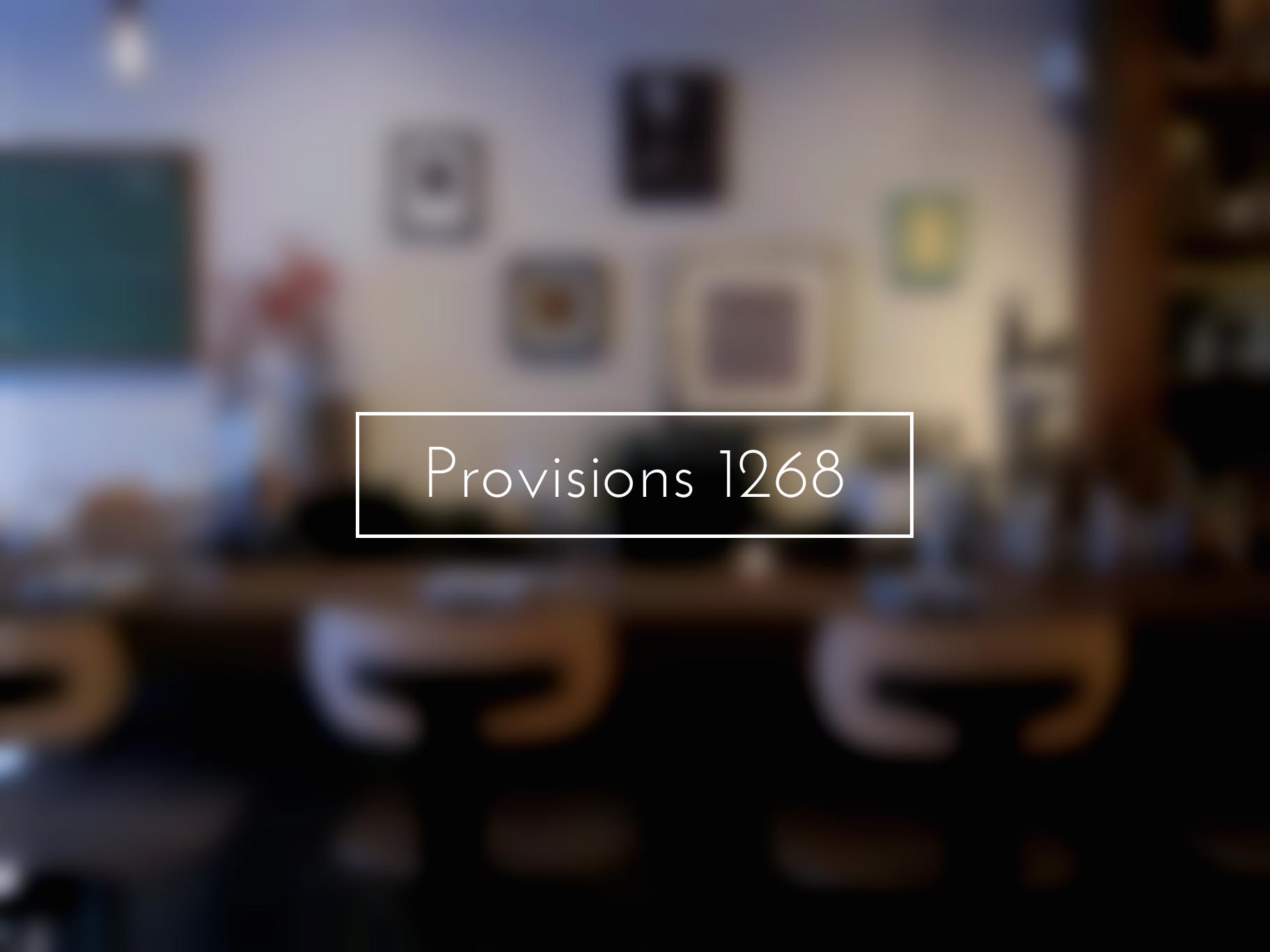 Provisions 1268, montréal, restaurant, top 5, resto, romantique, article, blog, le cahier