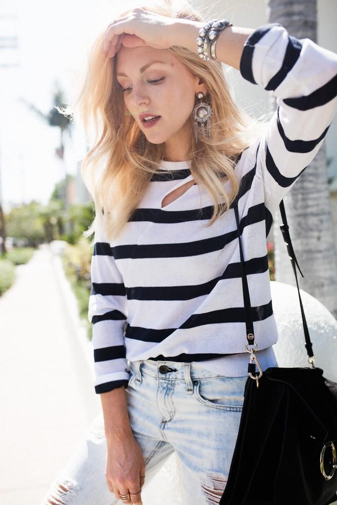 Shea Marie, blogeuse, mode, fashion, Peace Love Shea, Calofornie, layers, noir et blanc, long sleeve