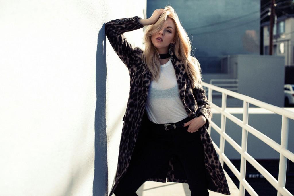 Shea Marie, blogeuse, mode, fashion, Peace Love Shea, Californie, pattern, léopard, statement coat