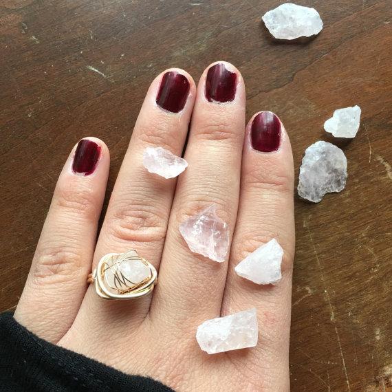 bague, quartz, fashion, bijoux