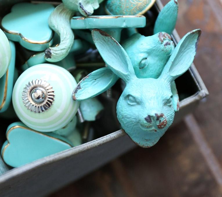 poignées, lapin, maison, décoration, décos à petits prix