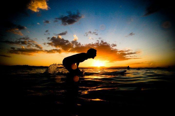 surf, vague, voyage, moment