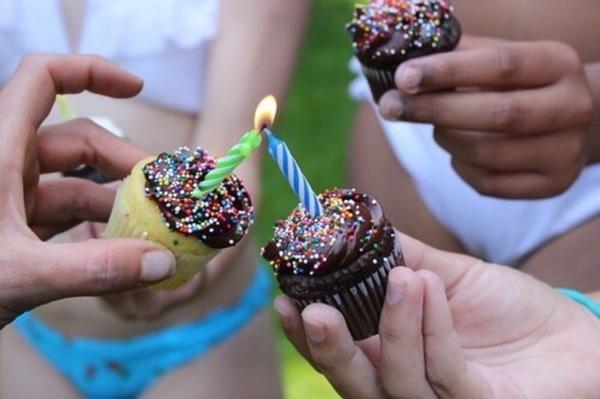 cupcake,fête, célébration, chandelle