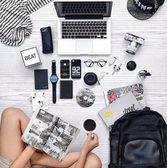 coffee, computer, CV, work