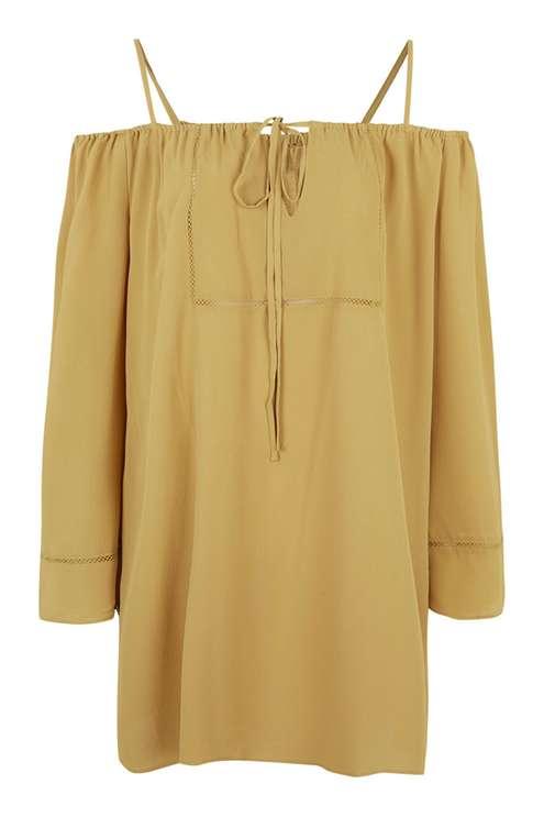 top shop yellow dress