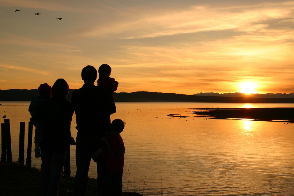 plage famille beau