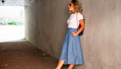 A Different Kind of Denim Skirt