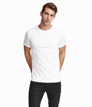 h & M chandail blanc