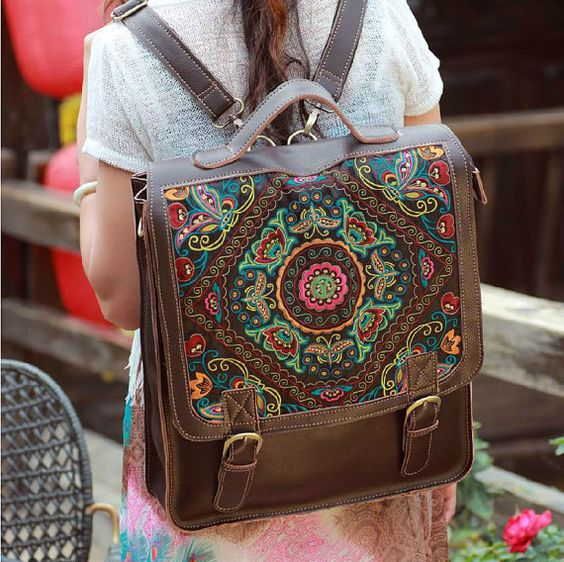 sac bohème, vintage bag, school bag, handbag, sac vintage