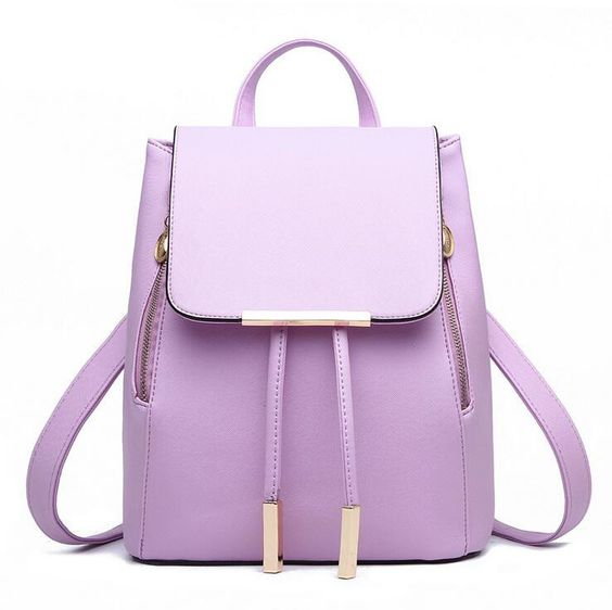 sac mauve, purple bag, bag, sac, sac d'école, handbag, school bag, cute