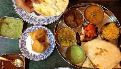 indien, nourriture, pita
