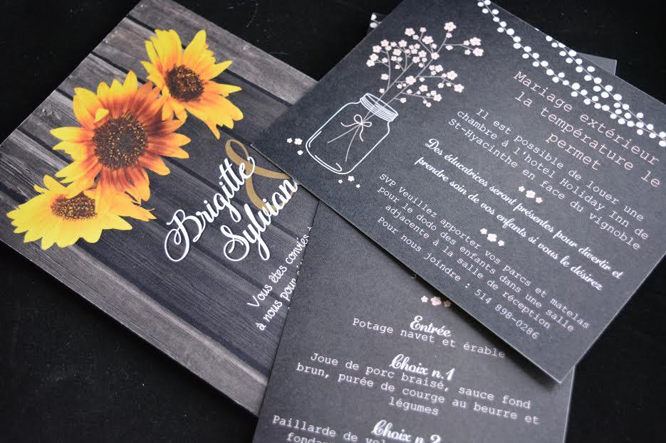 mariage, invitations, mariés