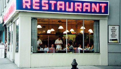 restaurant, façade, nourriture