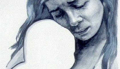 perte, enfant, mère