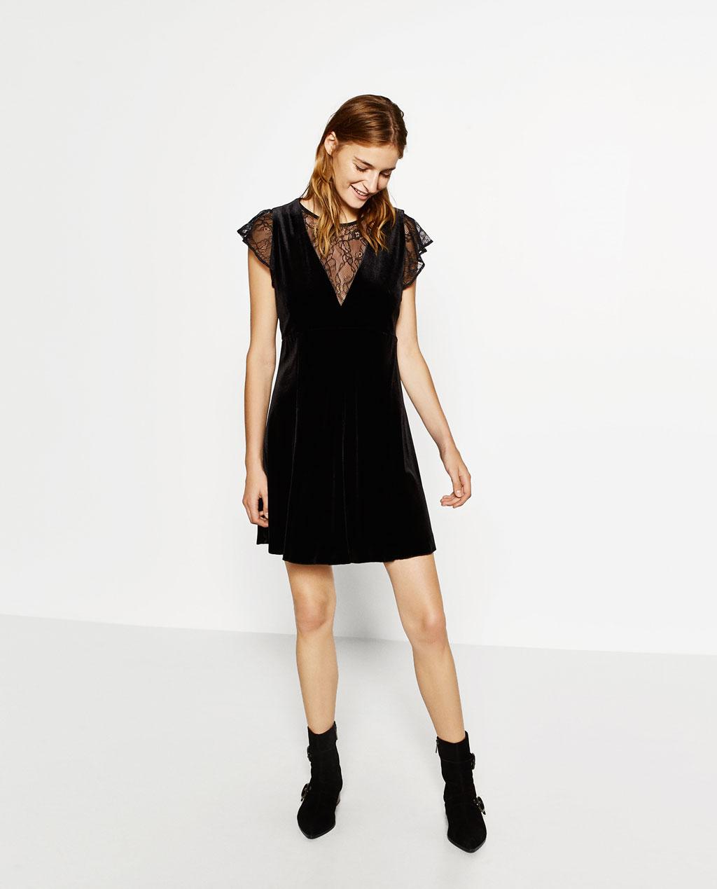 robe noir velours