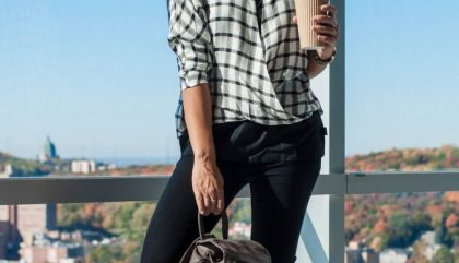 mode, café, étudiante