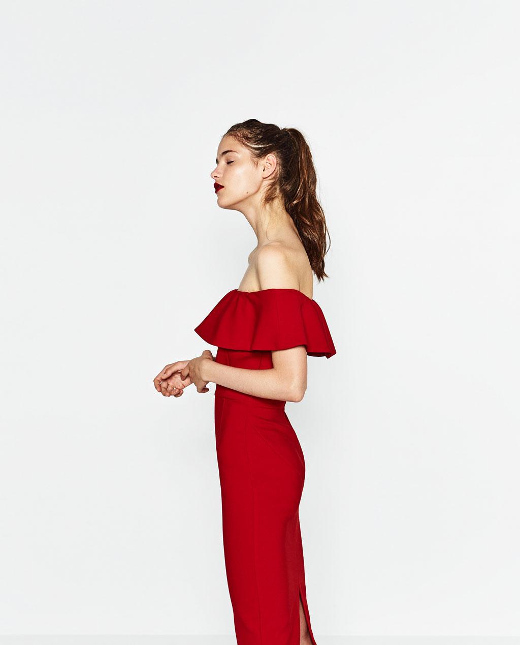 robe zara rouge