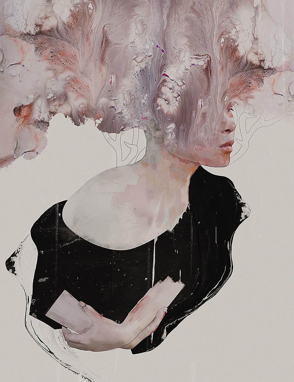femme, perturbation, mental