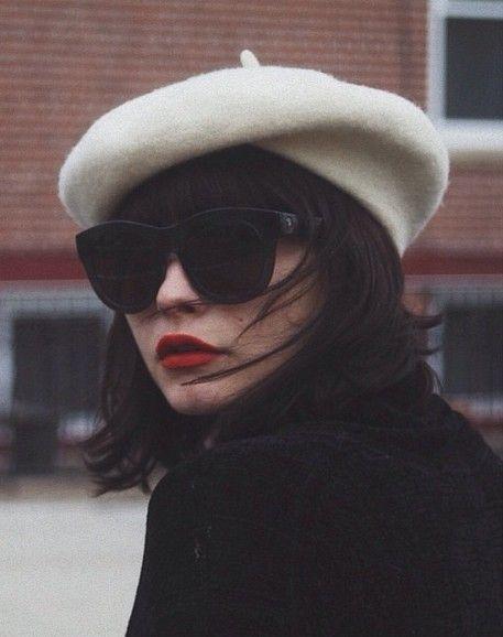 beret, mode, femme