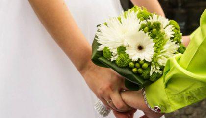 mariage, fleurs, bouquet