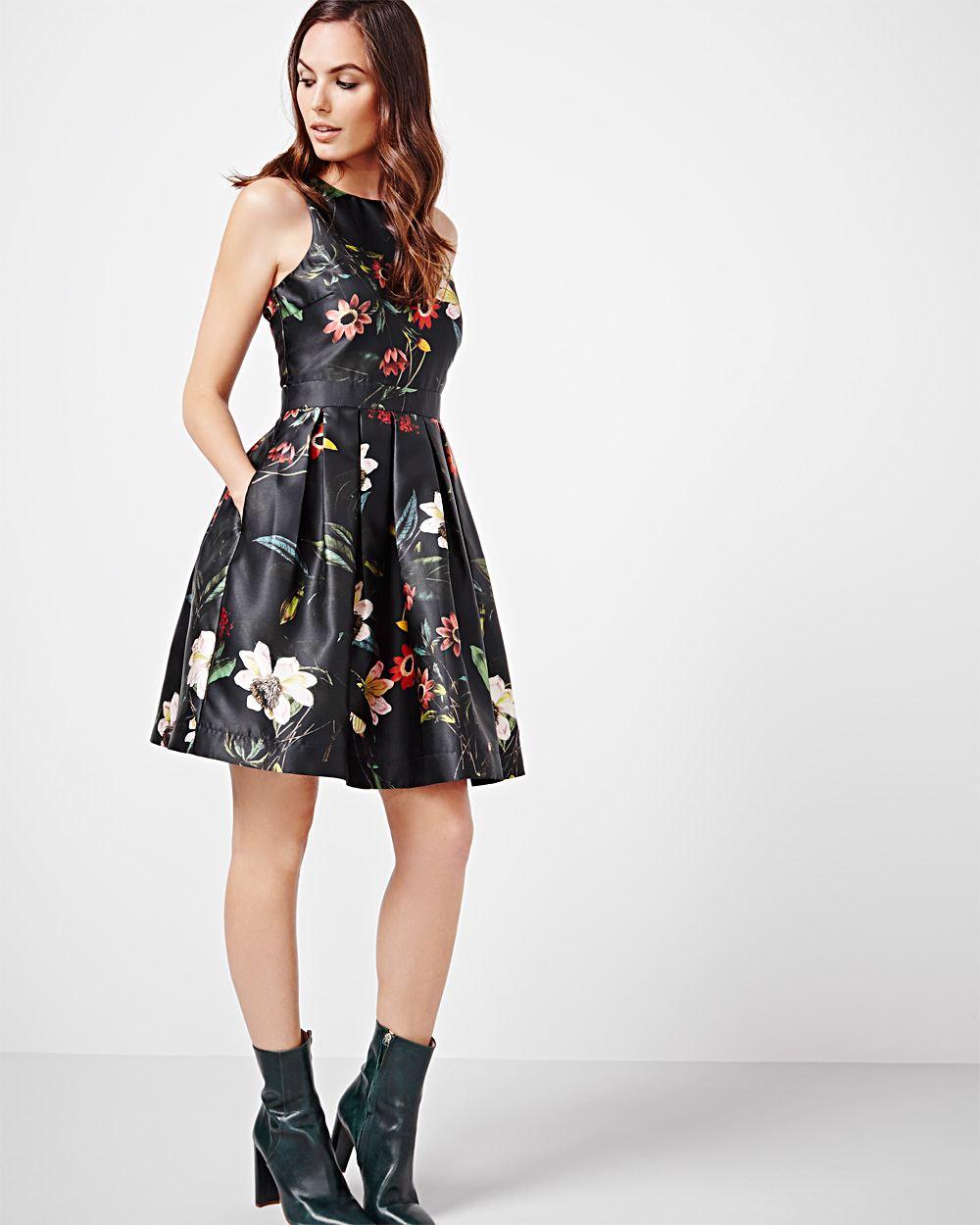robe fleur noir