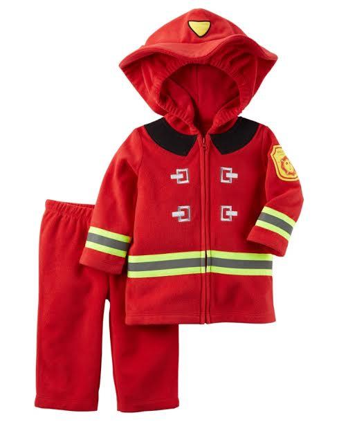 costume enfant pompier