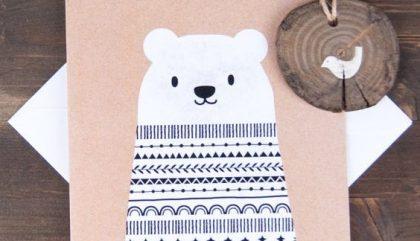 ourson, foulard, papier