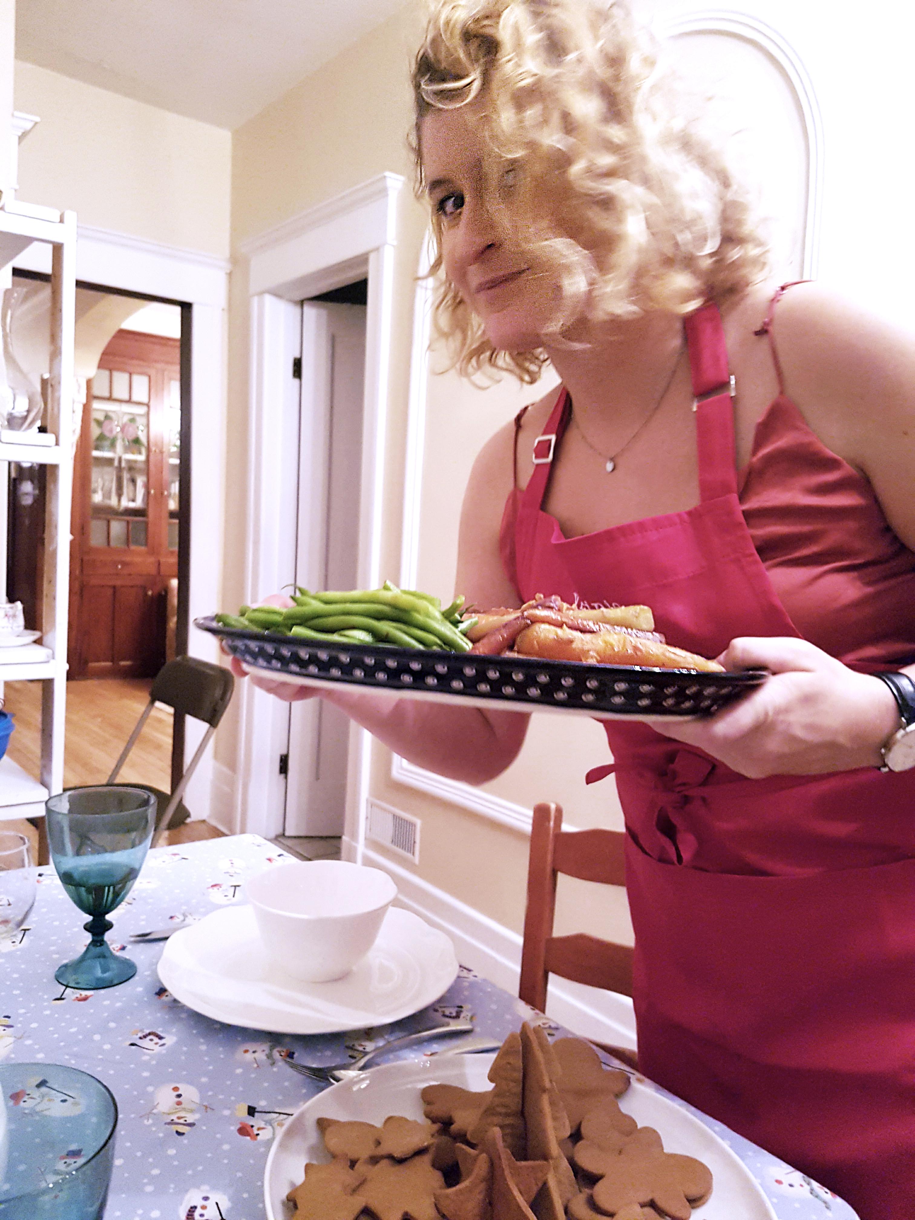 service, légumes, repas