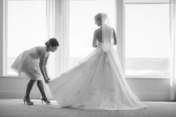 mariage, robe, demoiselle