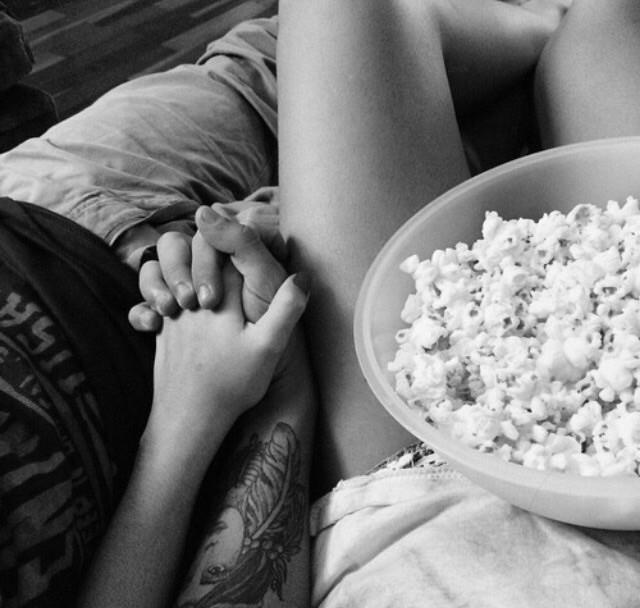 film, amoureux, pop corn
