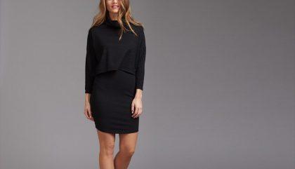 robe, noire, automne