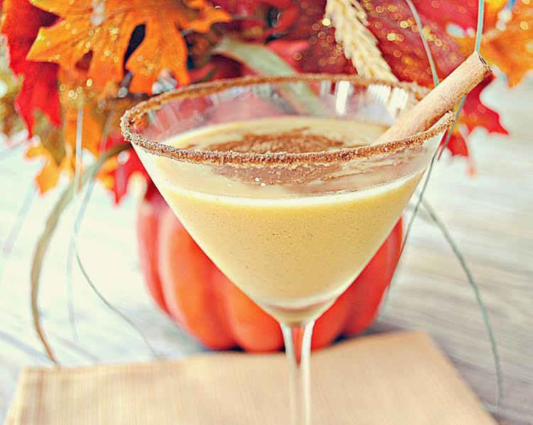 martini citrouille cocktail
