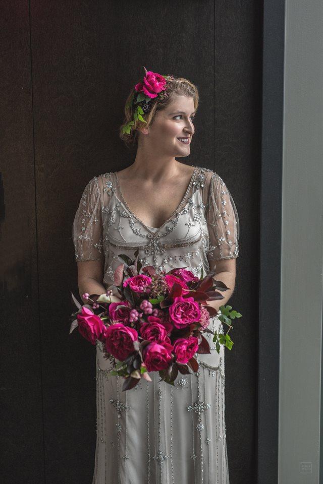 mariage rose robe