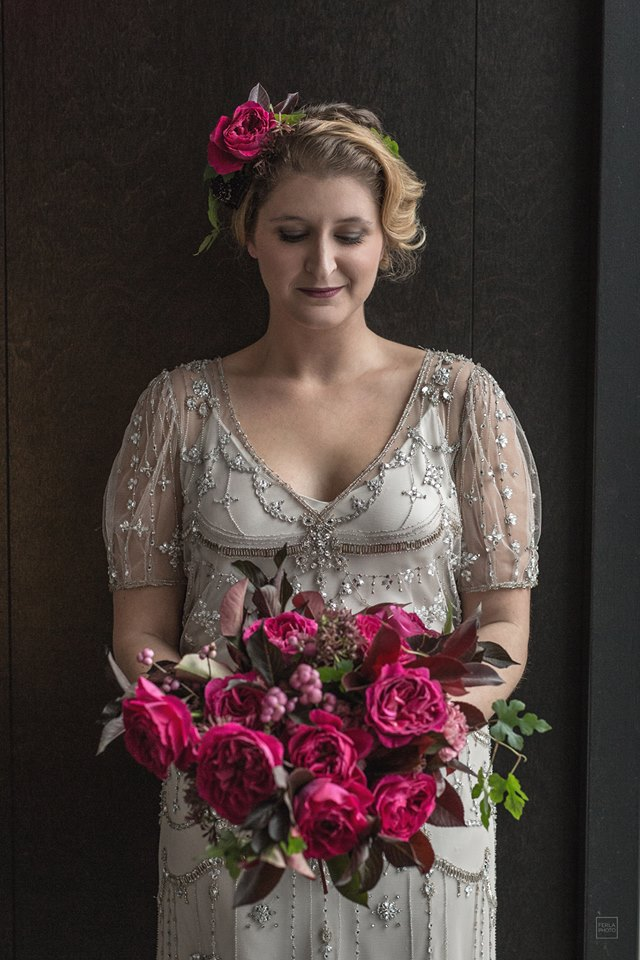 mariage robe rose