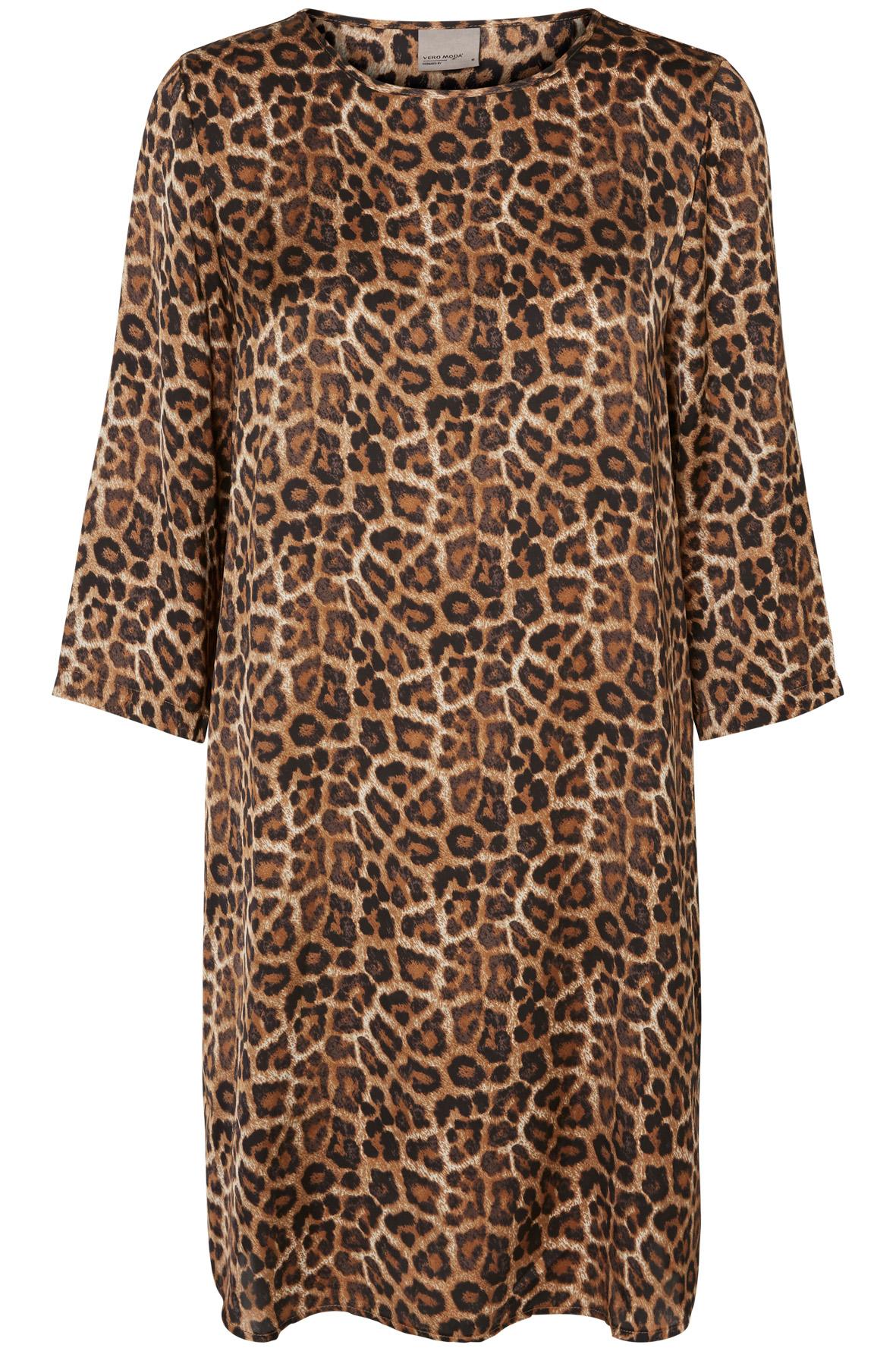 robe, léopard, simple