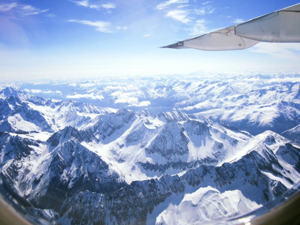paysage, avion, voyage