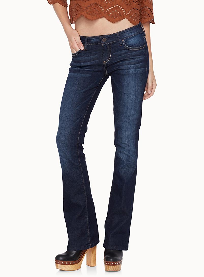 jeans, semi-évasé, foncé