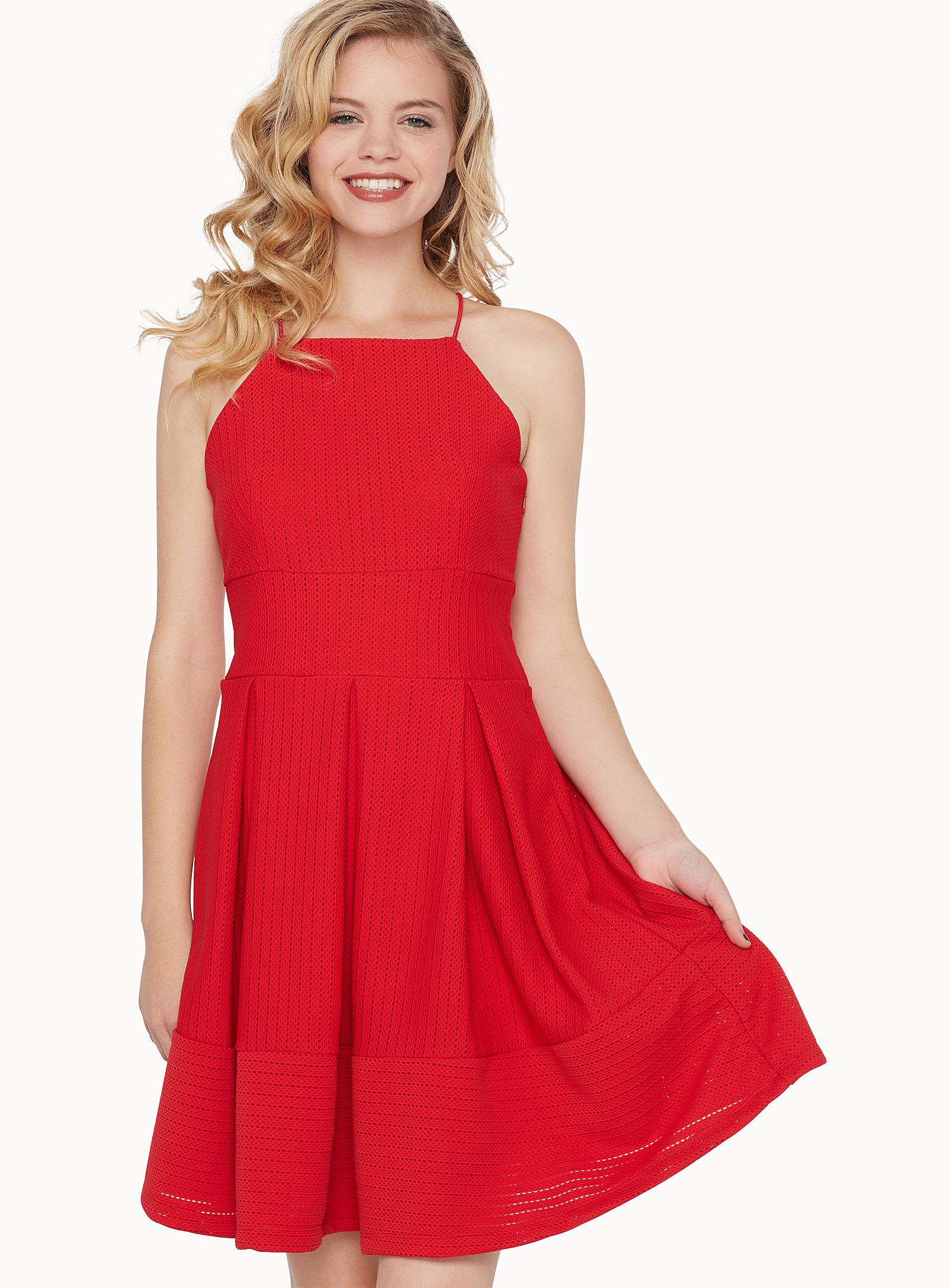 rouge, robe, simple