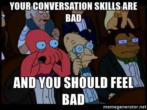 mauvaise conversation temps