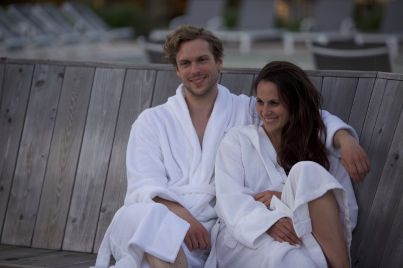 spa, amoureux, relaxation