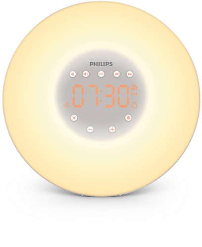 lampe, réveil, philips